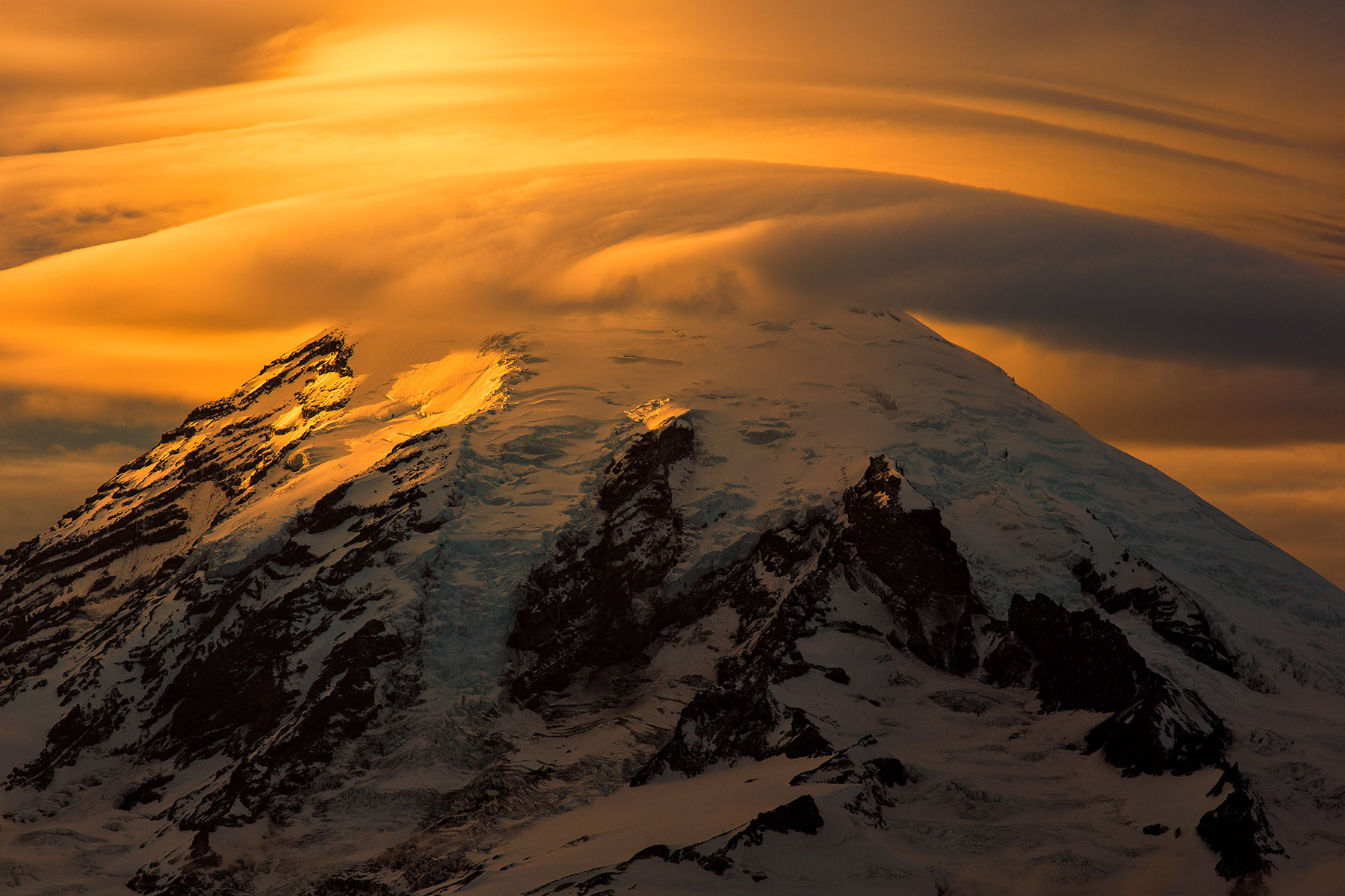 Lenticular Cloud, Mt. Rainer, Washington
